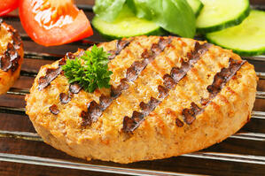 One great way to cut the bad fats from your summer diet is to grill some veggie burgers instead of beef patties.