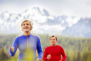 Aerobic exercise, such as jogging, is great for the health of your heart and lungs.
